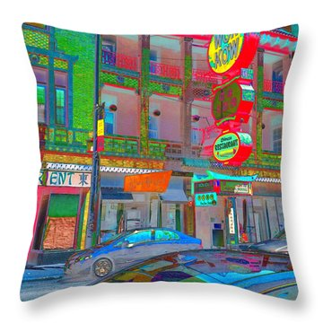 Throw Pillow featuring the photograph Won Kow, Wow 2 by Marianne Dow