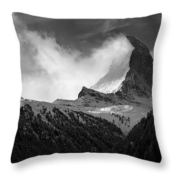 Wonder Of The Alps Throw Pillow