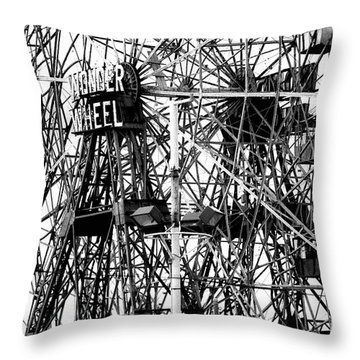 Wonder Wheel Coney Island Throw Pillow