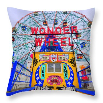 Wonder Wheel Throw Pillow