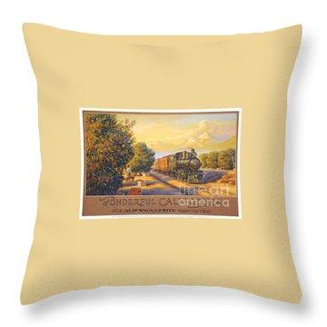 Wonderful California Throw Pillow by Nostalgic Prints