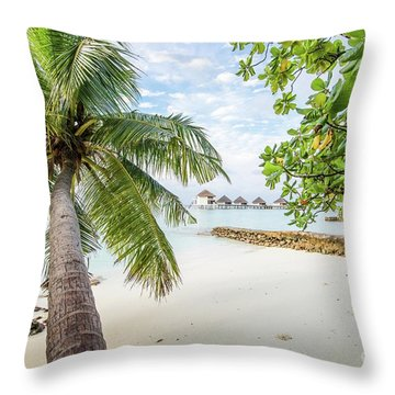 Throw Pillow featuring the photograph Wonderful View by Hannes Cmarits