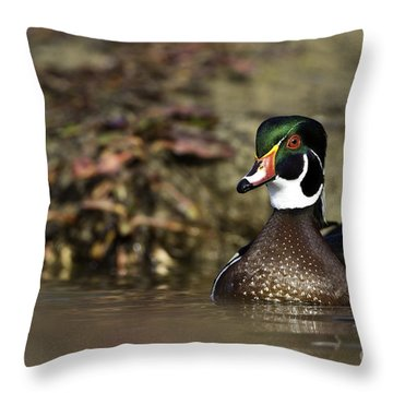 Wonderful Woodie Throw Pillow