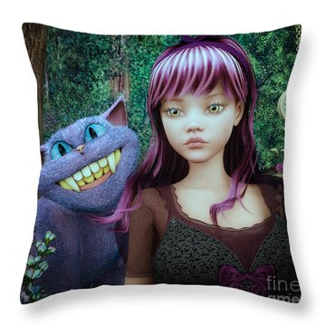 Wonderland Alice Throw Pillow