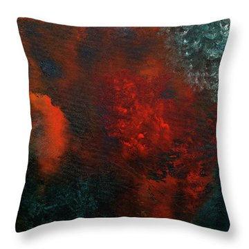 Throw Pillow featuring the painting Wonderland by Carmen Guedez