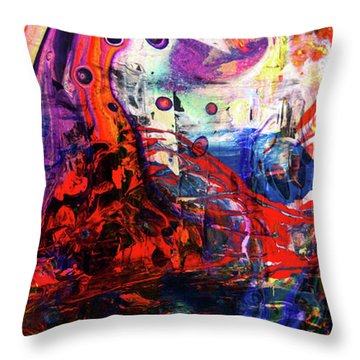 Wonderland - Colorful Abstract Art Painting Throw Pillow