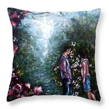 Wonderland Throw Pillow by Harsh Malik