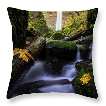 Wonderland In The Gorge Throw Pillow by Bjorn Burton