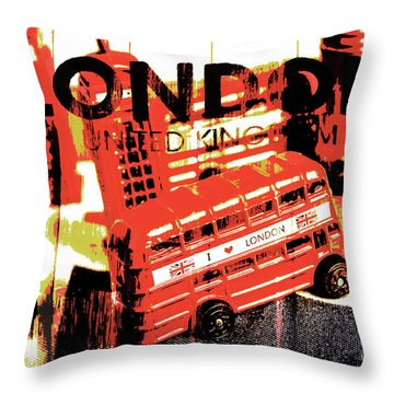 Wonders Of London Throw Pillow