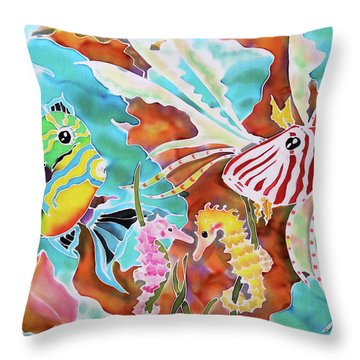 Wonders Of The Sea Throw Pillow
