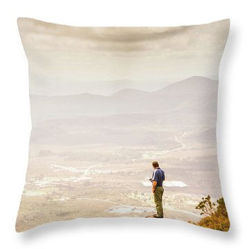 Wondrous Western Tasmania Throw Pillow