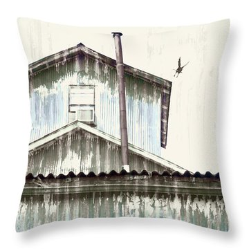 Wonky Stovepipe Industrial Art Throw Pillow