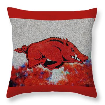 Woo Pig Sooie 2 Throw Pillow by Belinda Nagy