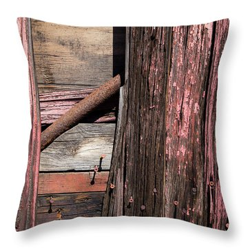 Throw Pillow featuring the photograph Wood And Rod by Karol Livote