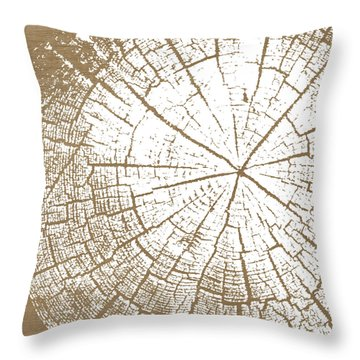 Wood And White- Art By Linda Woods Throw Pillow by Linda Woods