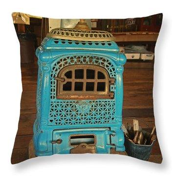 Wood Burning Heater Throw Pillow