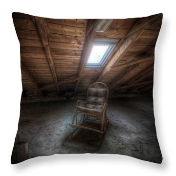 Wood Chair Throw Pillow