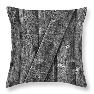 Wood Door With Handle Detail Throw Pillow