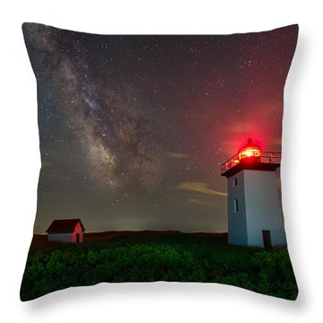 Wood End Nights Throw Pillow