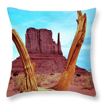 Wood 'n Mitten Throw Pillow