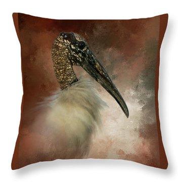 Wood Portrait  Throw Pillow