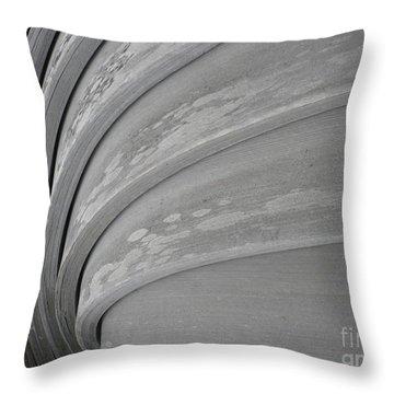 Wood Swirl Throw Pillow by Karen Sydney
