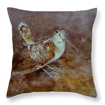 Woodcock Throw Pillow