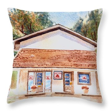 Woodcock Insurance In Watercolor  W406 Throw Pillow by Kip DeVore