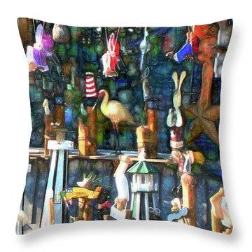 Woodcraft Giftshop In Montour Falls Throw Pillow