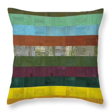 Wooden Abstract Lll Throw Pillow