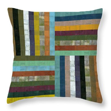 Wooden Abstract V  Throw Pillow