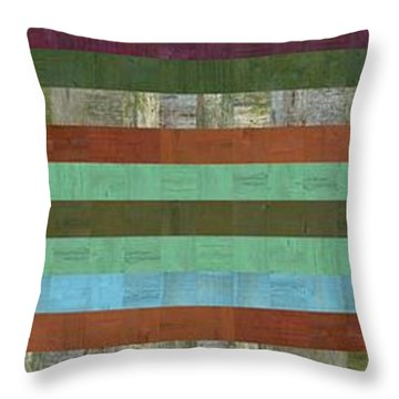 Wooden Abstract X  Throw Pillow by Michelle Calkins
