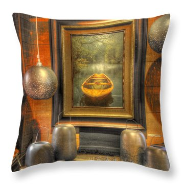 Wooden Art Throw Pillow