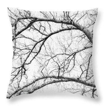 Wooden Arteries Throw Pillow