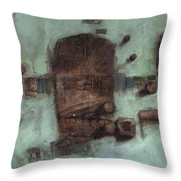 Symbol Mask Painting - 05 Throw Pillow by Behzad Sohrabi
