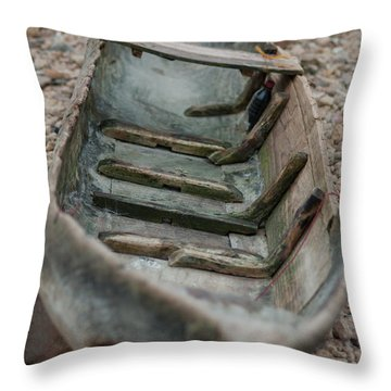 Wooden Boat1 Throw Pillow