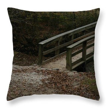 Throw Pillow featuring the photograph Wooden Bridge by Kim Henderson