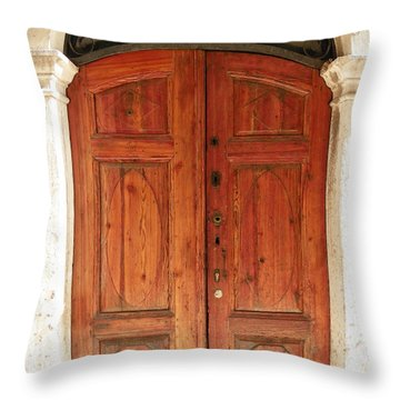 Wooden Gate Throw Pillow
