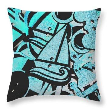 Wooden Harbour Throw Pillow