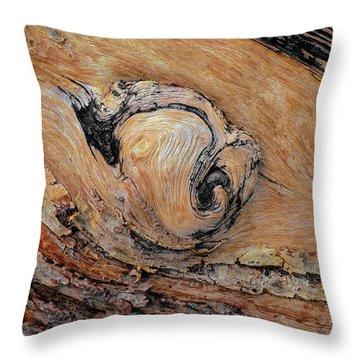 Wooden Knobble Throw Pillow