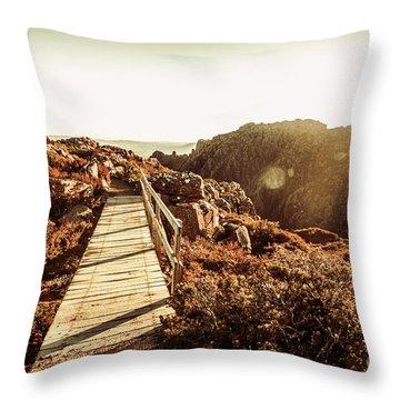 Wooden Mountain Paths Throw Pillow