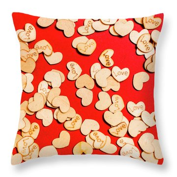 Wooden Notes Of Red Sentiment Throw Pillow