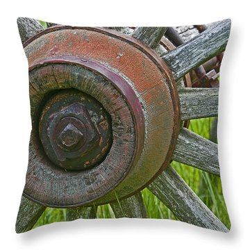 Wooden Spokes Throw Pillow