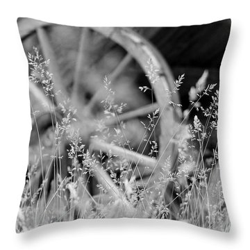 Throw Pillow featuring the photograph Wooden Wagon Wheel by Beauty For God