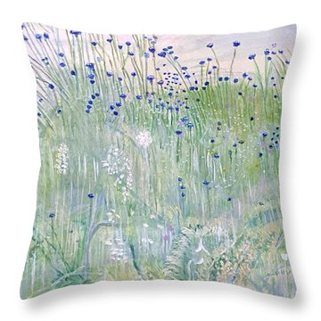 Woodford Park In Woodley Throw Pillow by Joanne Perkins
