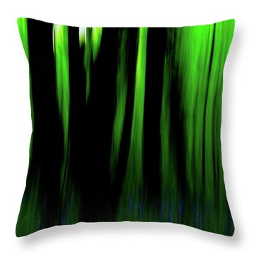 Woodland Abstract Iv Throw Pillow