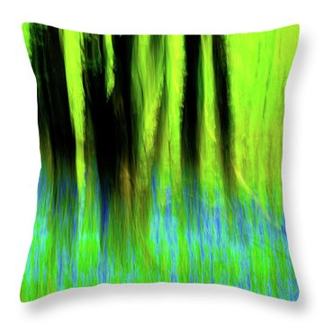 Woodland Abstract Vi Throw Pillow