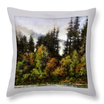 Woodland Bottoms In April Throw Pillow