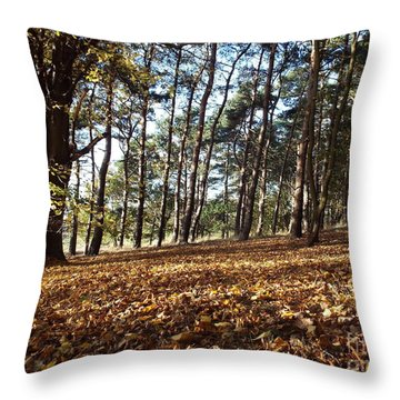 Woodland Carpet Throw Pillow