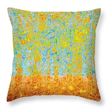 Throw Pillow featuring the digital art Woodland Dreams-no1 by Darla Wood
